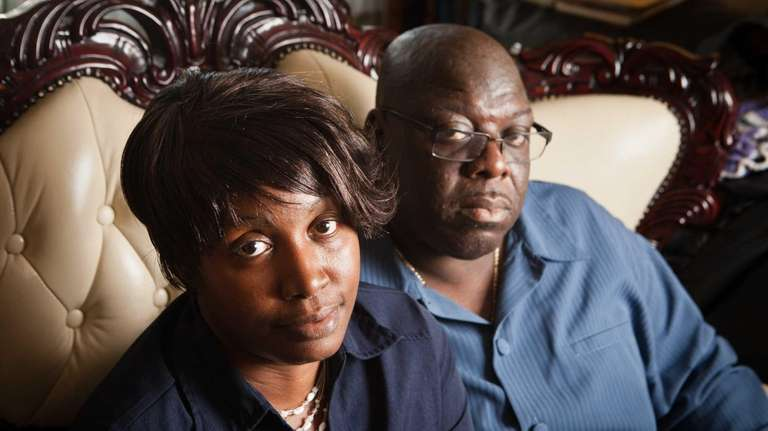 Gwendolyn Houston-Johnson and husband Terrence Johnson are shown