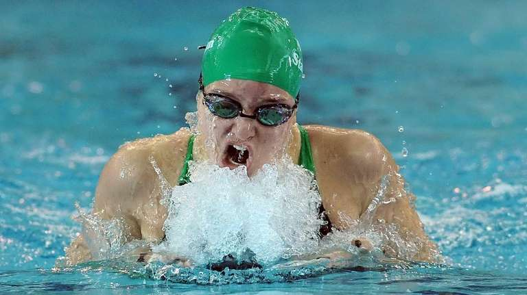 Long Beach's Margaret Aroesty swims in the finals