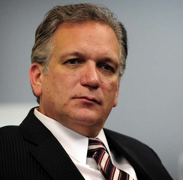 Nassau County Executive Edward Mangano speaks to Newsday