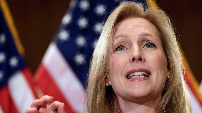 Sen. Kirsten Gillibrand (D-NY) speaks at a news