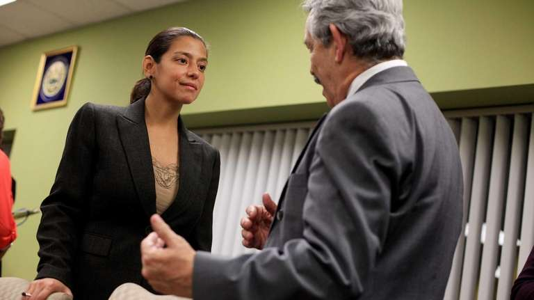 Newly-elected Suffolk County Legislator Monica Martinez, of the