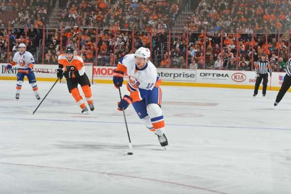 Josh Bailey of the New York Islanders skates