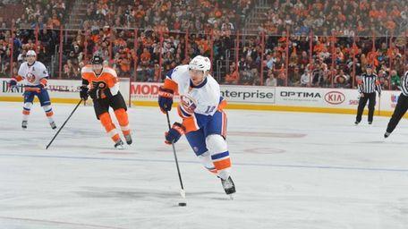 Josh Bailey of the New York Islanders skates