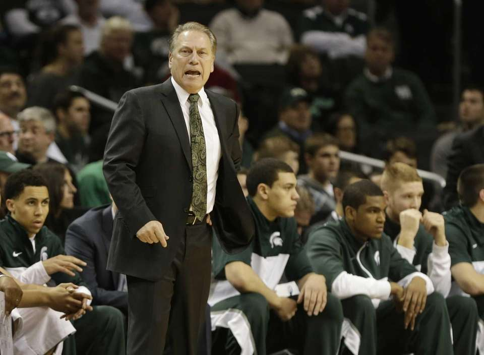 Michigan State head coach Tom Izzo calls out