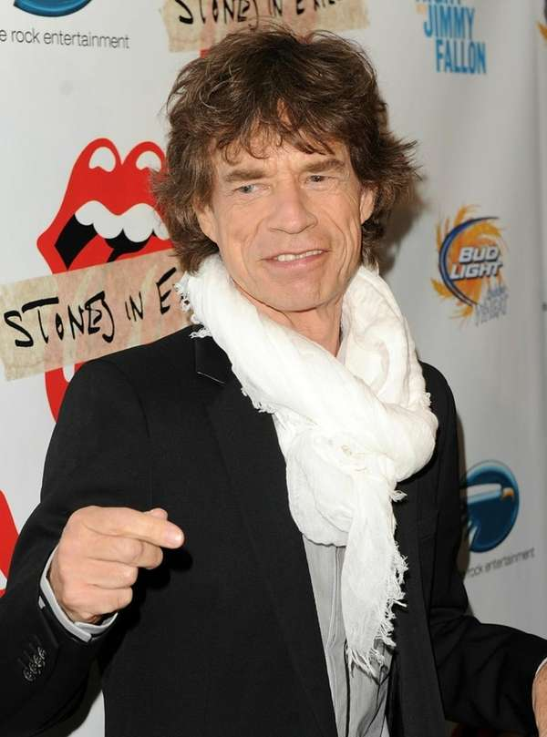 Singer Mick Jagger of The Rolling Stones will
