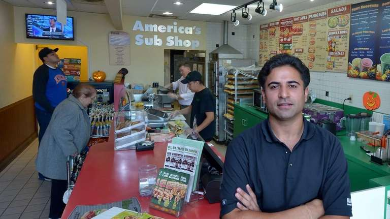 Jitin Choudhury started working at a Blimpie sandwich