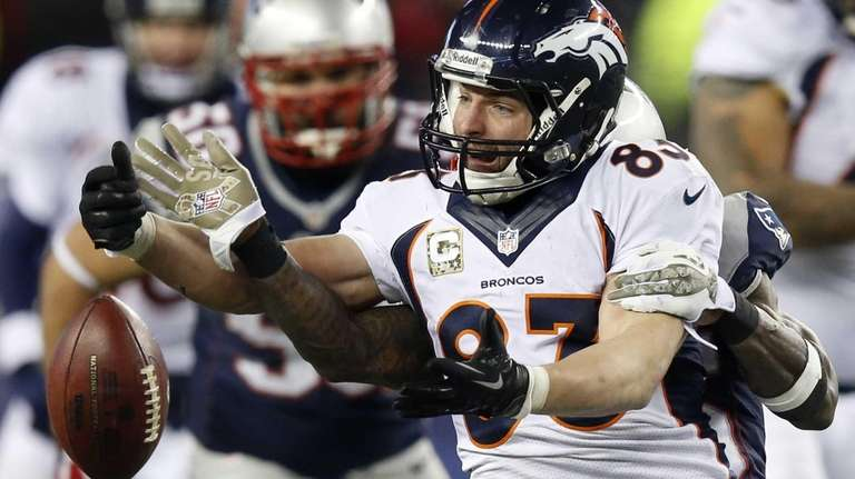 Denver's Wes Welker can't catch a pass with