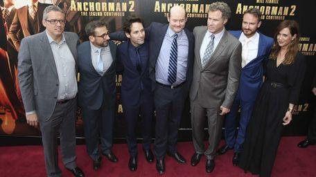 From left, director Adam McKay, Steve Carell, Paul