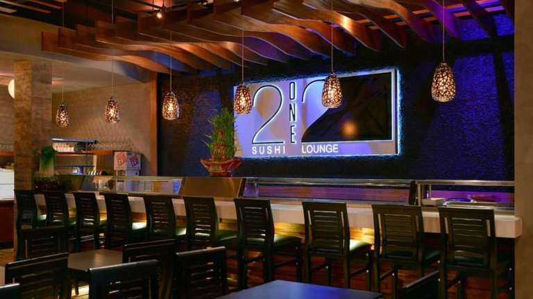 Interior of the new 212 Sushi Lounge in