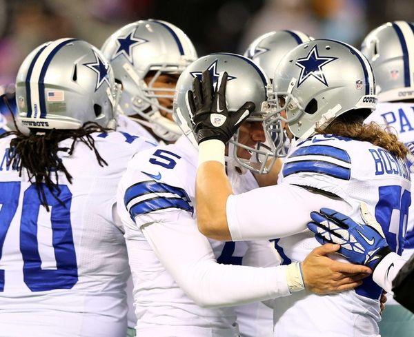 Dallas Cowboys kicker Dan Bailey is congratulated by