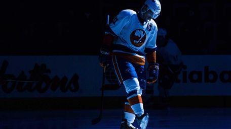 New York Islanders John Tavares skates in the
