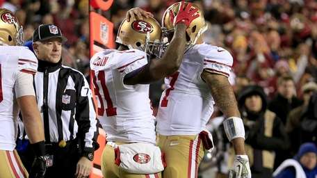 San Francisco 49ers wide receiver Anquan Boldin and
