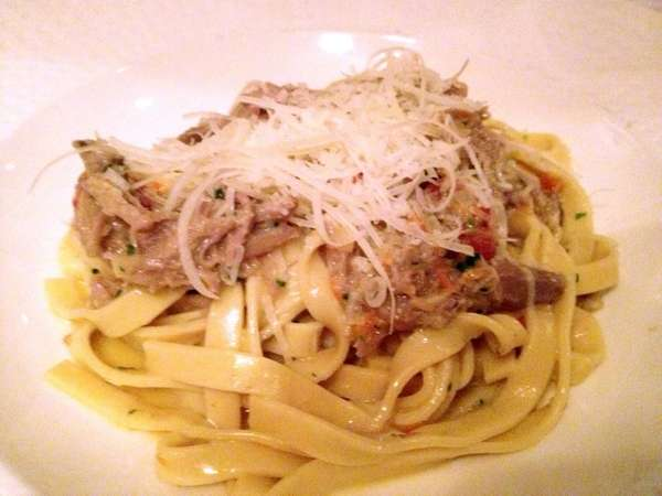Tagliatelle with duck ragout is served at Mirabelle