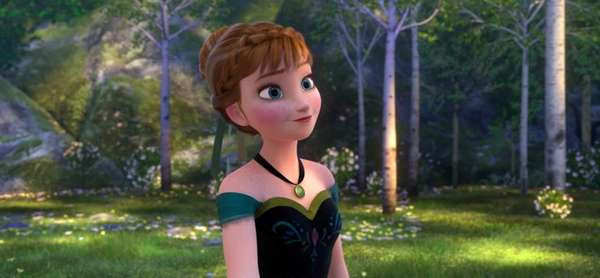 Anna, voiced by Kristen Bell, in a scene