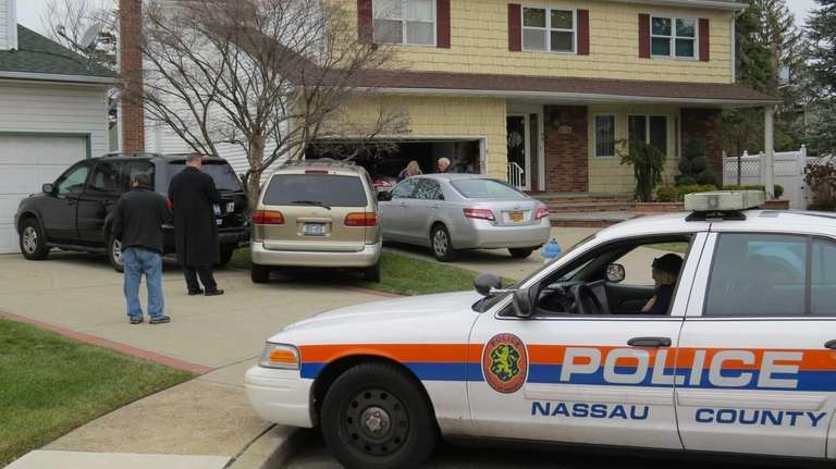 Nassau County police respond after a male pushed