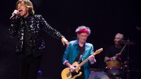 Mick Jagger, Keith Richards and Charlie Watts of