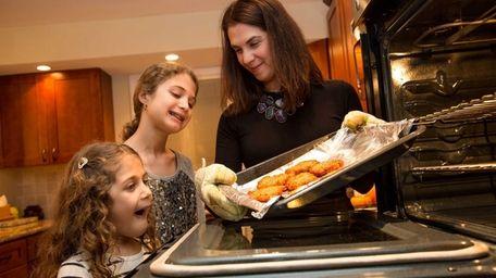 Adar Novak with her two daughters, Yael, 5