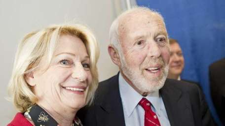 James and Marilyn Simons who donated $150 million