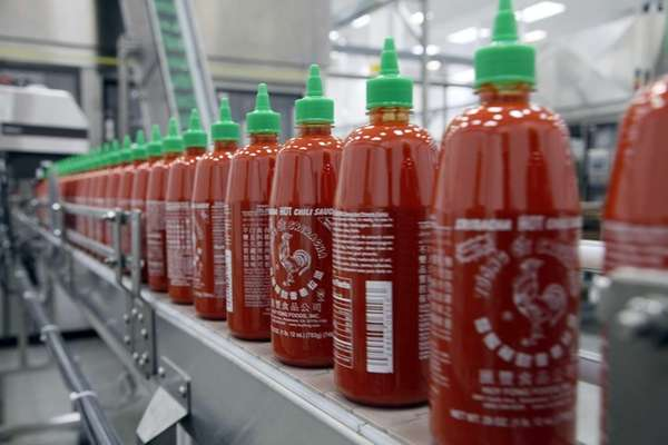 Sriracha chili sauce is produced at the Huy