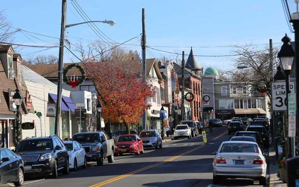 Main Street in Port Jefferson, a former shipbuilding