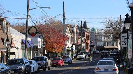 Main Street in Port Jefferson, a former shipbuilding