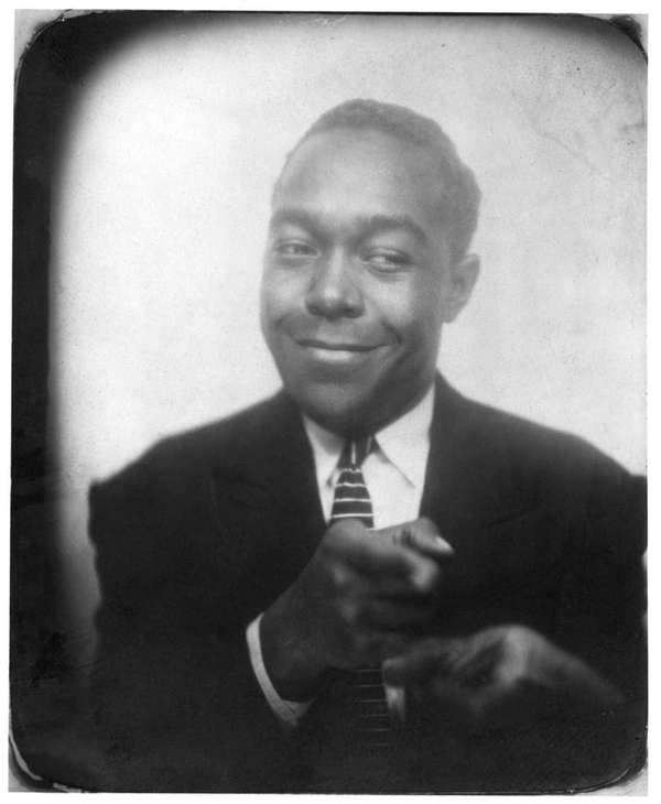 Charlie Parker in a Kansas City photo booth,