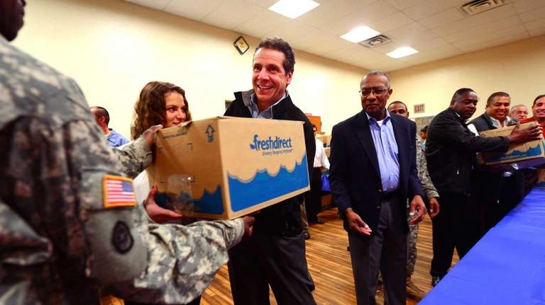 Governor Andrew Cuomo and his daughter, Cara, left,