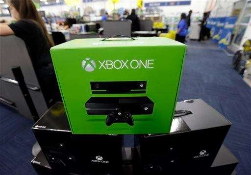 The Xbox One is on display at a
