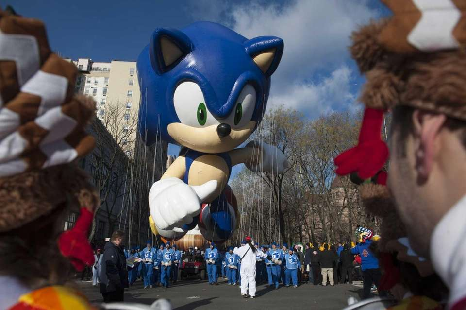 Sonic the Hedgehog takes flight Thursday morning at