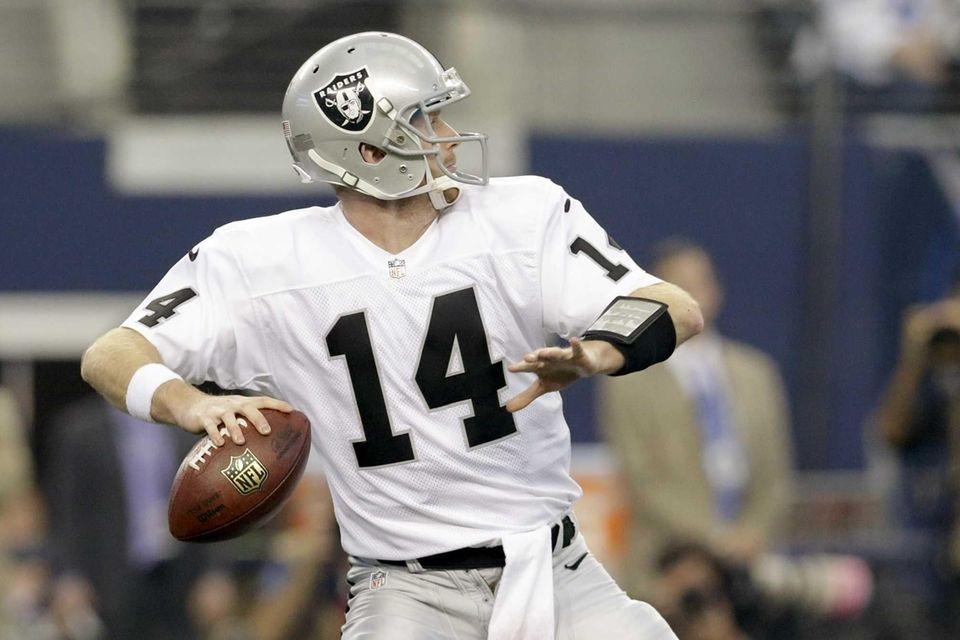 Oakland Raiders quarterback Matt McGloin passes the ball