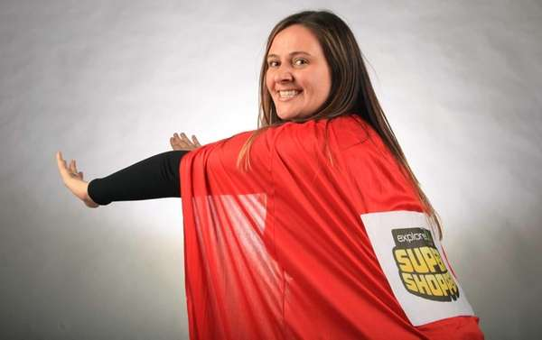 With her red cape on, Newsday Super Shopper
