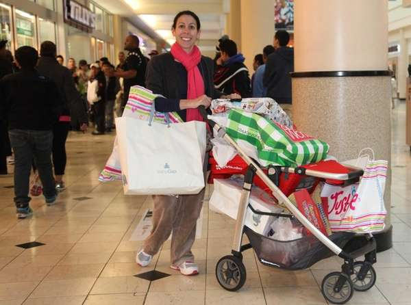 Nicole Odone shops at Roosevelt Field Mall. (Nov.