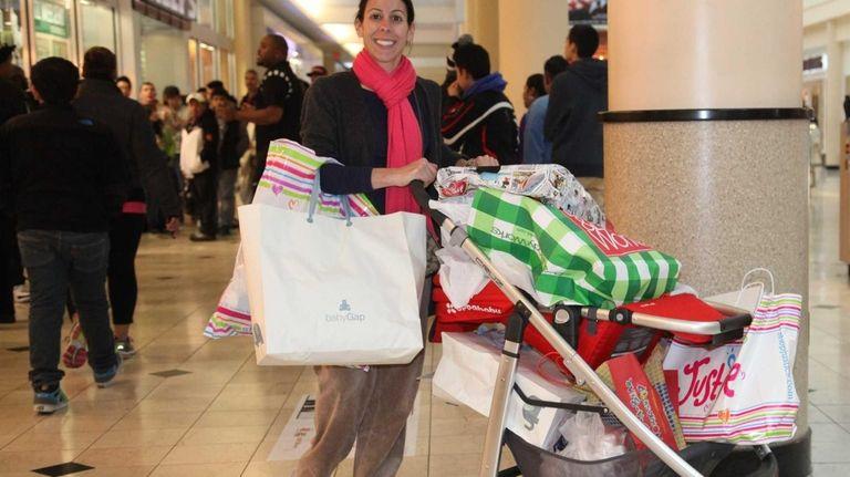 Nicole Odone shops at Roosevelt Field Mall. (Nov.