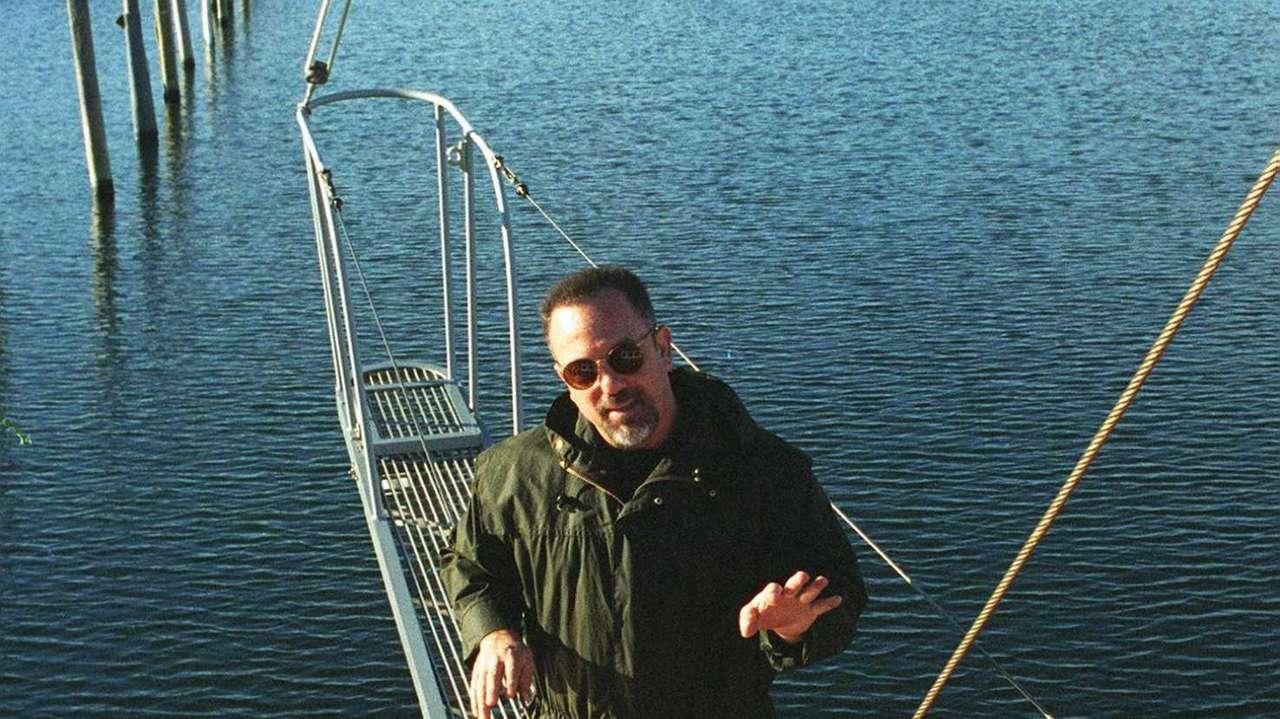 Billy Joel in Sag Harbor on his boat.