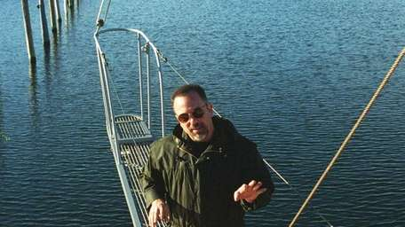 Billy Joel in Sag Harbor on his boat.