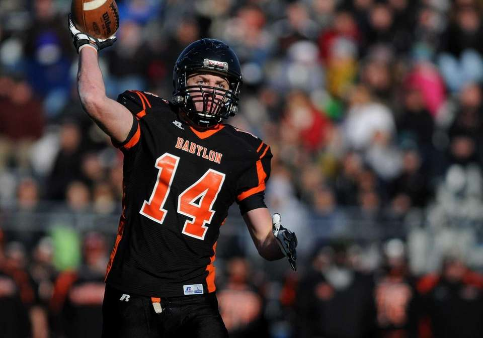 Babylon wide receiver Jake Carlock plays the role