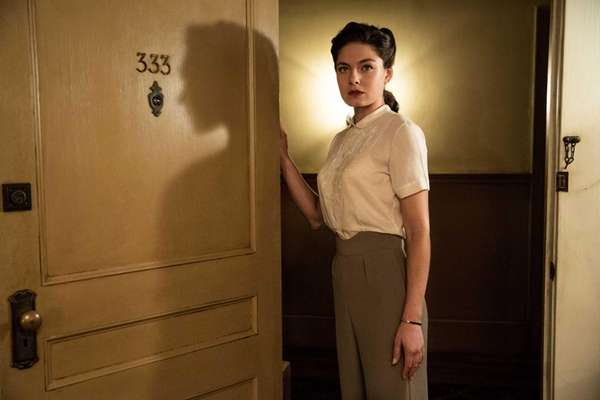 "Alexa Davalos in a scene from ""Mob City."""