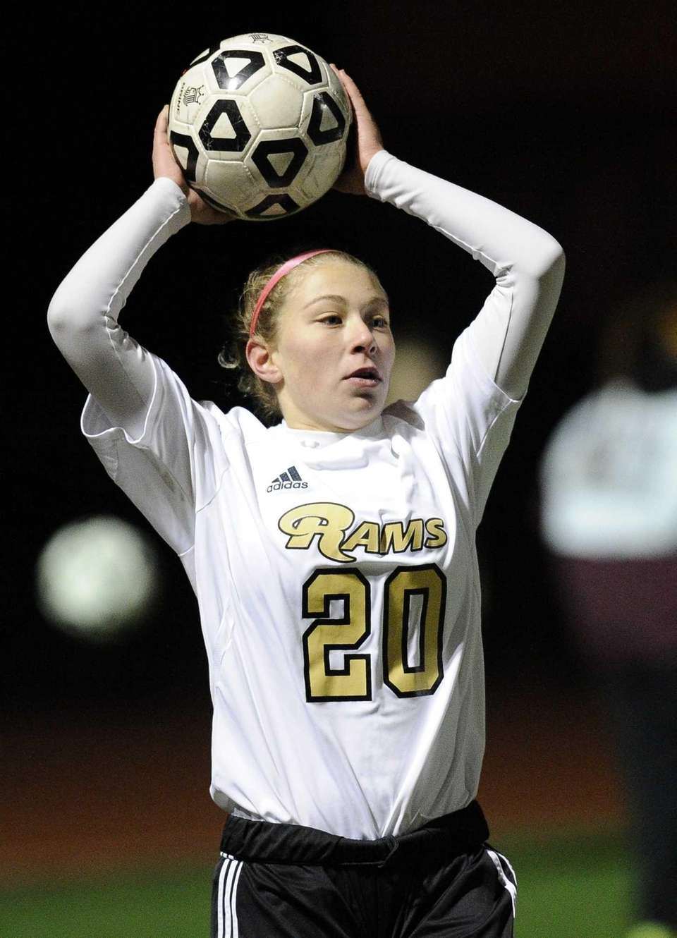 Nassau County's Taylor Freiermuth throws in the ball