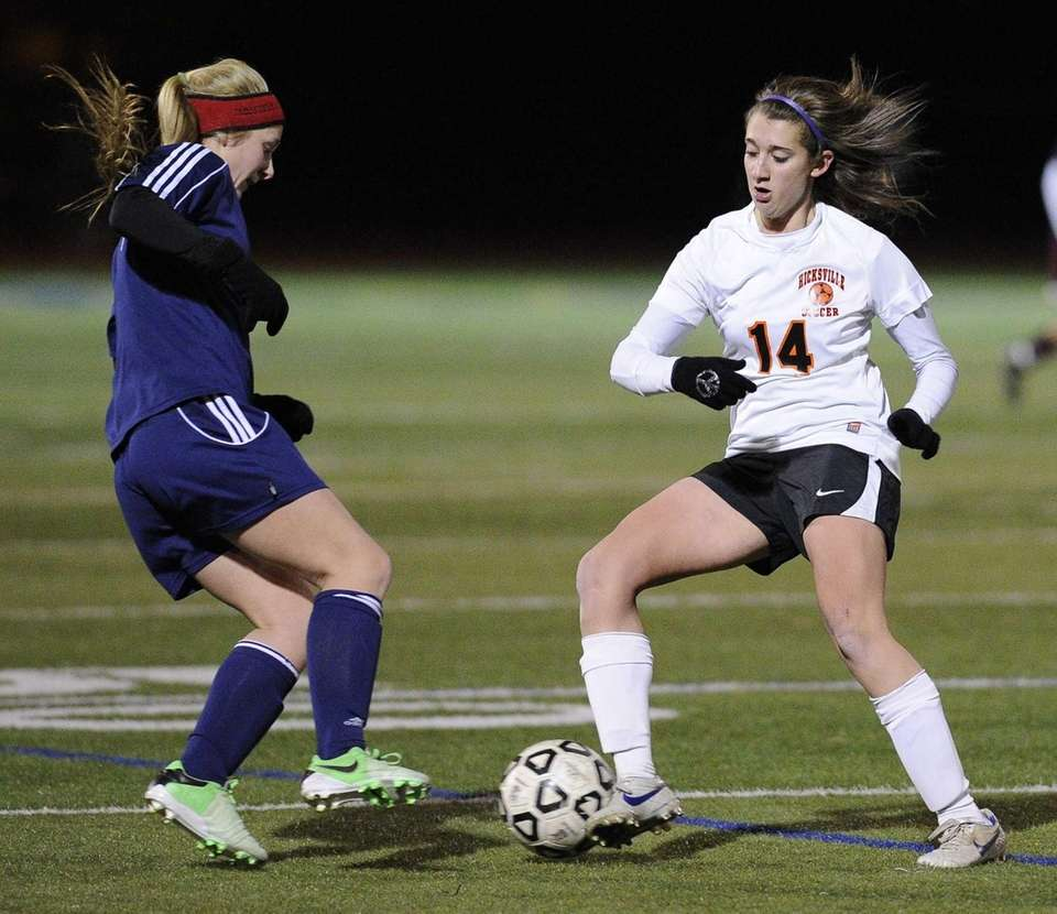 Nassau County Team Two's Courtney Locurcio controls the
