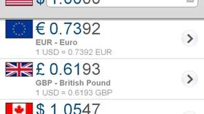 XE Currency app.