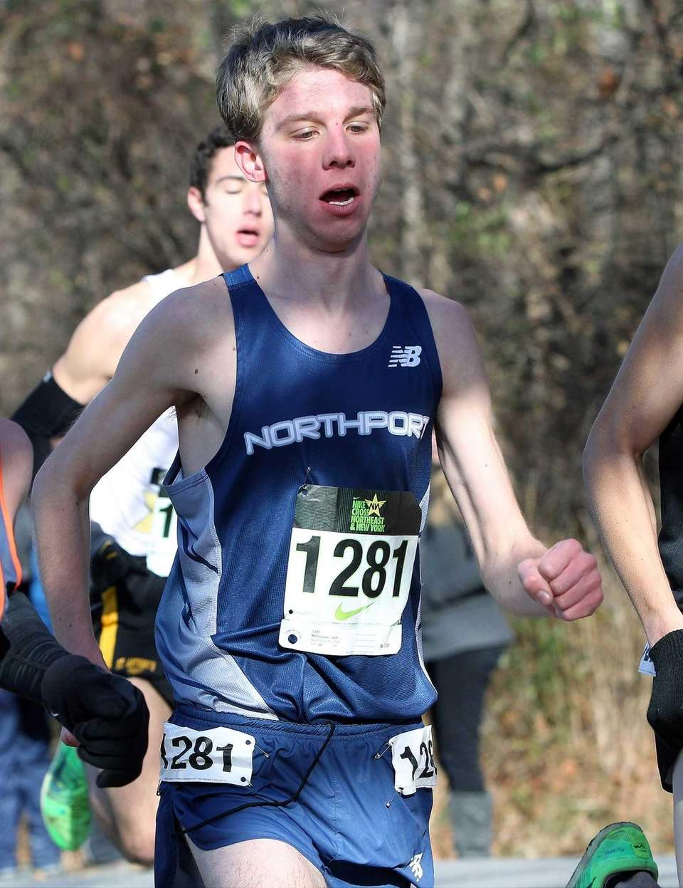 Northport's Jack McGowan enters the hills at the