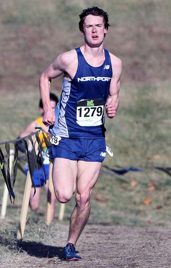 Northport's Mike Brannigan exits the hills in first