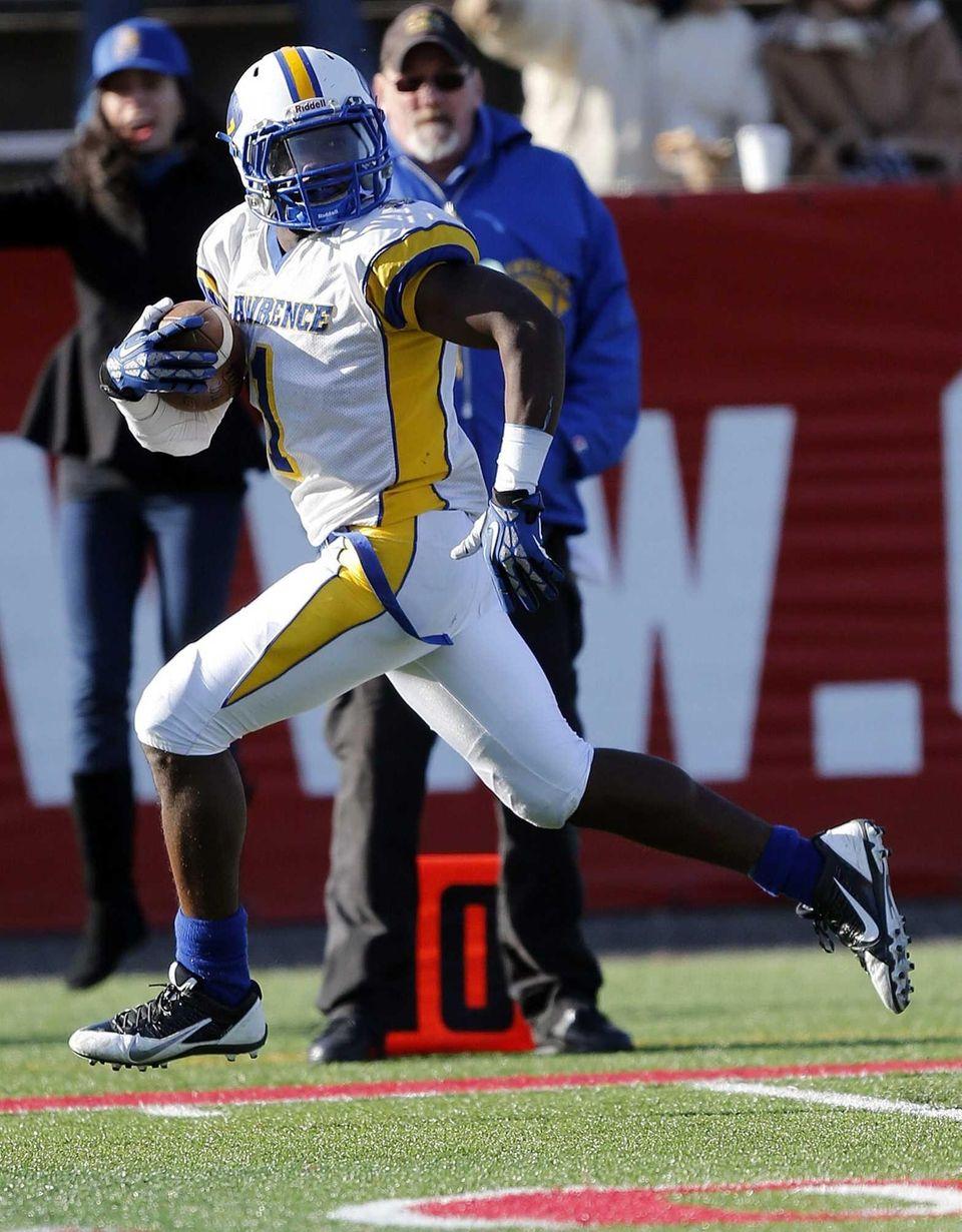 Lawrence wide receiver Jordan Fredericks takes one last