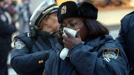 An NYPD traffic enforcement agent was struck and