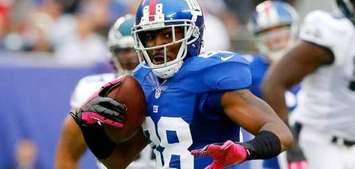 Giants wide receiver Hakeem Nicks looks to gain