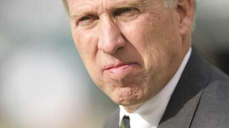 Jets General Manager John Idzik prior to a
