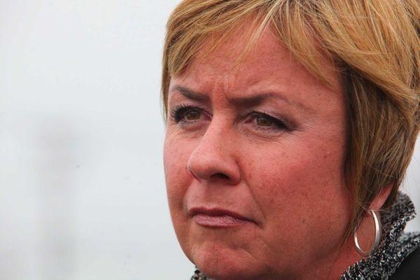 Hempstead Town Supervisor Kate Murray speaks to the