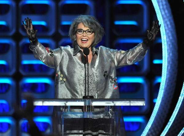 Roseanne Barr appears on stage at the Comedy