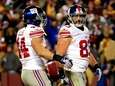 Giants tight end Brandon Myers (no. 83) celebrates