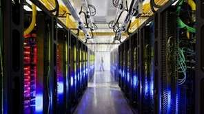 The Google campus-network room is seen at a
